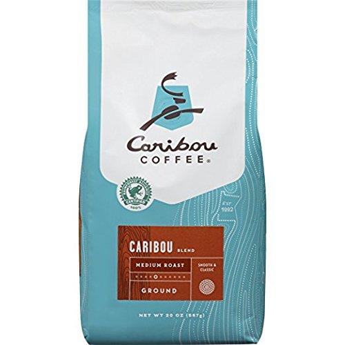 Two Bale Caribou Coffee Caribou Blend Ground Medium Roast, 20 Ounce bag (40 ounces)