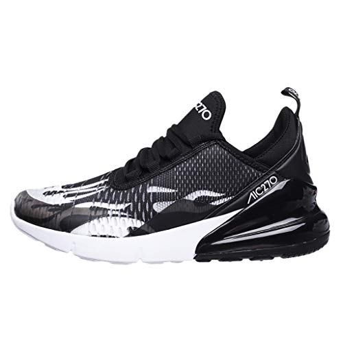 JJLIKER Mens Lightweight Running Shoes Breathable Lace-up Fashion Stylish Antiskid Walking Sneakers Athletic Sports Shoe