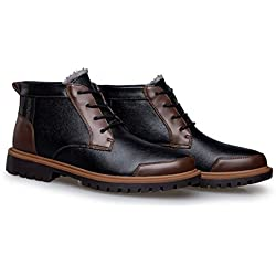 YINHAN® Men's Winter Warm Big Size Leather Lace-up Martin Boots