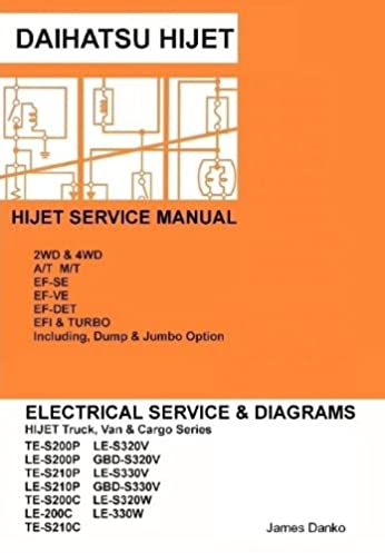 daihatsu hijet english electrical service manual s200p s210p s320v rh amazon co uk daihatsu hijet 1.3 workshop manual daihatsu hijet repair manual pdf