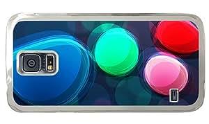 Cheap fun Samsung i9600 cover Abstract rainbow circles PC Transparent for Samsung S5,Samsung Galaxy S5,Samsung i9600