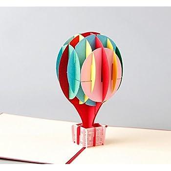 Amazon poplife hot air balloon sky 3d pop up greeting card hunger handmade 3d pop up hot air balloon birthday cards creative greeting cards papercraft hot air balloon bookmarktalkfo Image collections