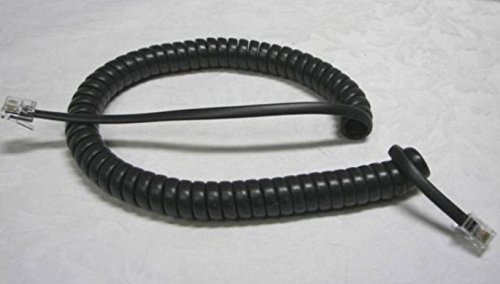 Lot of 2 Dark Charcoal Gray 9' Ft Handset Phone Cords for sale  Delivered anywhere in Canada