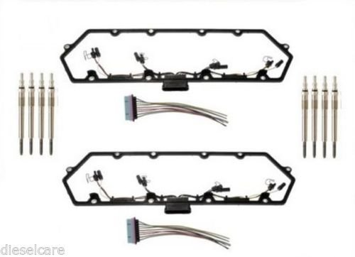 97-03 7.3L Powerstroke Valve Cover Gasket Kit with Wiring and 8 Glow Plugs