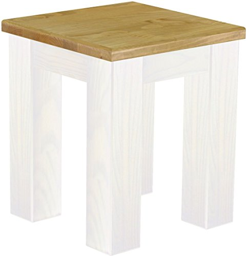 - Brazilfurniture Stool Rio Solid Pine, 38 x 38 cm, Brazil White Wood Oiled, Optional Matching Tables and Chairs, Coffee Modern Wooden Office Conference Desk Kitchen Living Room