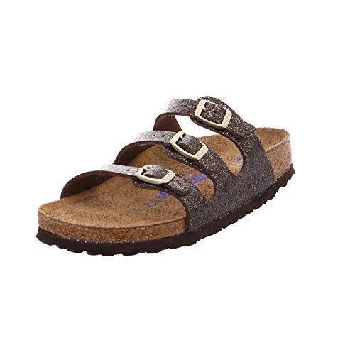 Birkenstock Womens Florida Soft Footbed Birko-Flor Myda Espresso Sandals 9 (Birkenstock Embossed Sandals)
