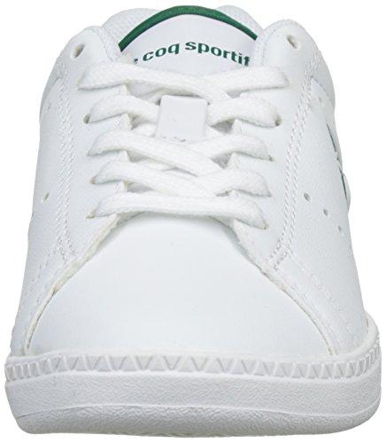 Le Coq Sportif Courtone Gs S, Zapatillas Unisex Niños Blanco (Optical White/Evergr)