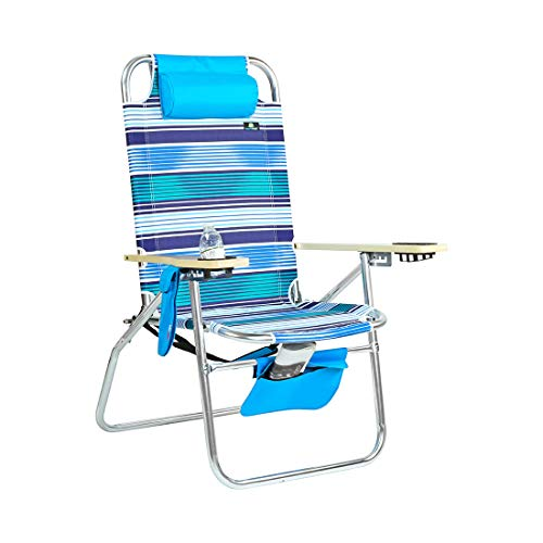 - Deluxe XL Wide Big Boy Aluminum Heavy Duty Beach Chair 17 inches Seat Height - 300 lb Load Capacity