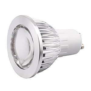 GREXISTAR 3W GU10 COB LED Spot Light Convex Lens Warm White