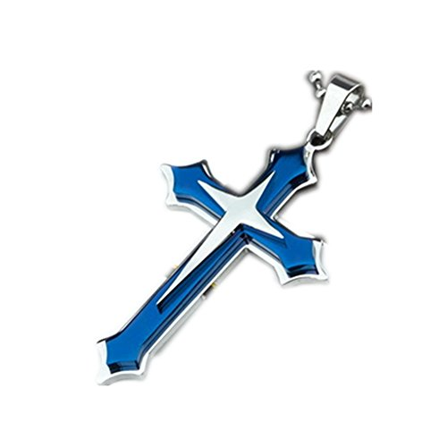 men-and-women-of-titanium-steel-three-layer-cross-pendant-necklace-stainless-steel-cross-necklace-bl