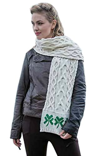 Scarf Cable Knit Long (Cable Knit Scarf 72