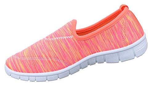 Damen Halbschuhe Schuhe Slipper Sneakers Freizeitschuhe schwarz blau pink lila 36 37 38 39 40 41 Pink