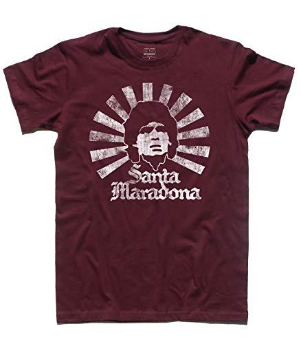 Uomo Bordeaux Santa Calcio shirt Maradona T Del 3stylershop Icone EwZqvnU