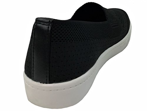 Toe On Soda Sneakers Slip Closed Black Knit Womens wTAqvRxa