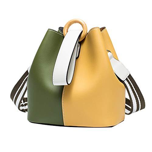 de mujer hombro Amarillo Piel Bolso al M para Verde NOTAG Otra qPvt0np