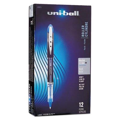 Vision Elite Stick Roller Ball Pen, TRS Brl, Blue Ink, Super Fine Pt Trs Blue Barrel