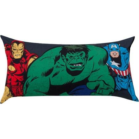 Marvel Avengers Body Pillow featuring Hulk, Iron Man, and Ca