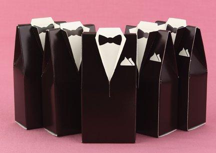 (Brown Tuxedo Favor Boxes - 374821)