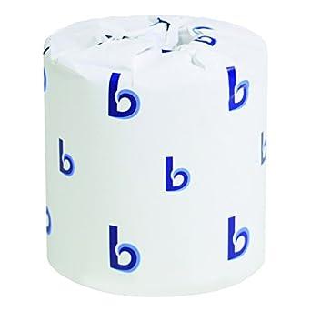 Amazon.com: Boardwalk 6170 One-Ply Toilet Tissue Sheets, White, 1000 ...