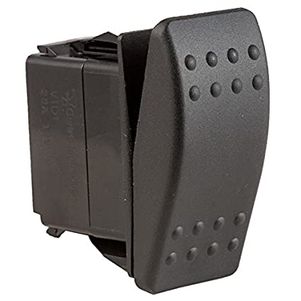 Black SPST 2 Position Momentary On Off Rocker Switch for Boats