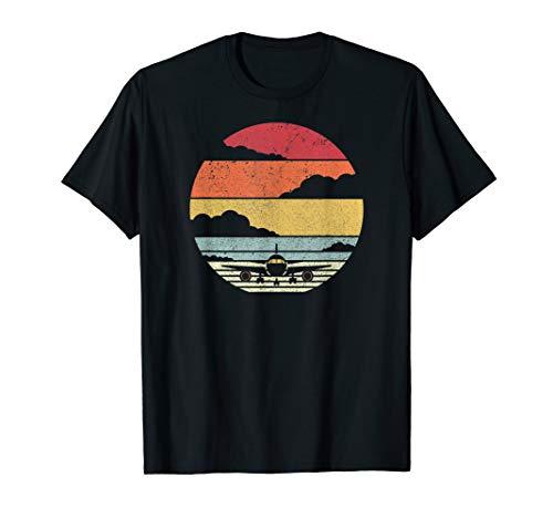 Airplane Shirt. Retro Style Pilot T-Shirt (Airplane T-shirt Tee)