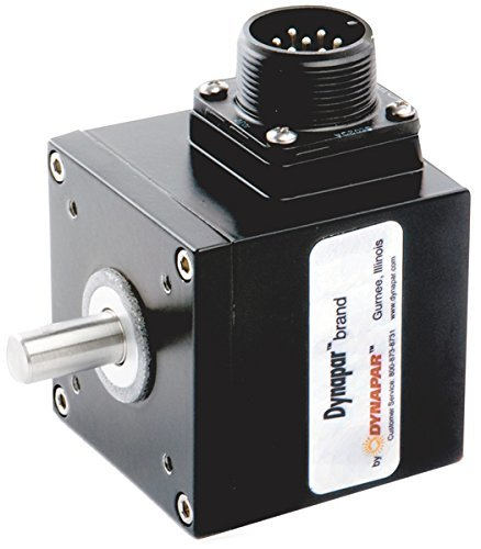Dynapar 2201003000 Qube Series Incremental Encoder, 100 ppr, 5 VDC - 26 VDC Open Collector with 2.2 K Pull-Ups Out, Single Ended Output, MS Connector, 1/4'' Singled Shaft