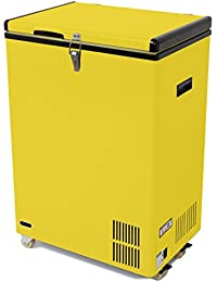 Whynter FM-951YW 95 quart Portable Wheeled Freezer with Door Alert and 12V Option, Yellow