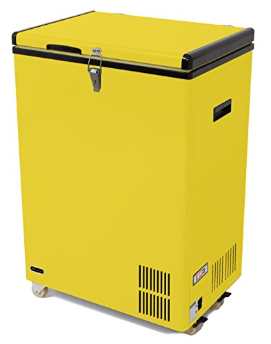 - FM-951YW - Whynter 95 Quart Portable Wheeled Refrigerator/Freezer with Door Alert and 12v Option - Limited Edition Yellow