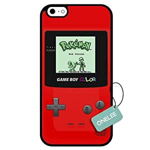 Onelee - Customized Nintendo Red Pokemon Gameboy TPU Case Cover for Apple iPhone 6 - Black 07 by Maris's Diary