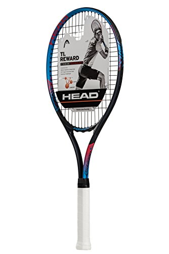 HEAD Ti. Reward Tennis Racket - Pre-Strung Head Light Balance 27 Inch Racquet - 4 1/4 In Grip, Blue/Black (Best 27 Inch Tennis Racket For Juniors)