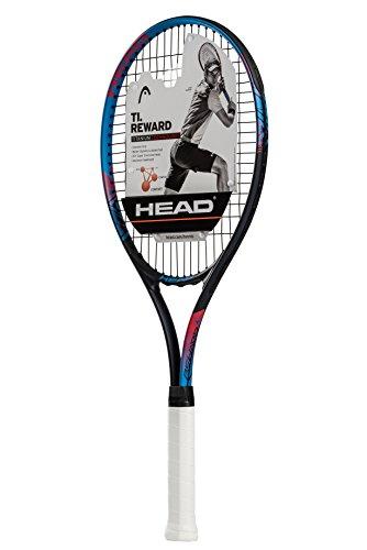 HEAD Ti. Reward Tennis Racket – Pre-Strung Head Light Balance 27 Inch Racquet – 4 3/8 In Grip, Blue/Black