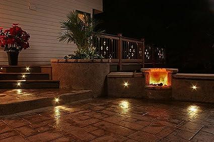 salt resistant outdoor lighting jeffhicken amazoncom dekor recessed led stair light 8light outdoor deck lighting kit black landscape path lights garden