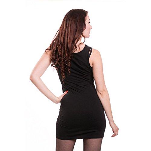 Ajustado Mujer Alchemy Negro Para Vestido 6vHnBqw