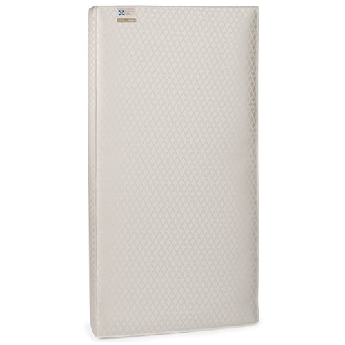 Kolcraft Baby Mattress (Sealy EverLite 2-Stage Lightweight Infant and Toddler Crib Mattress with Firmer Side, Waterproof Barrier and Soft Cotton Cover, 52 x 28 Inch)