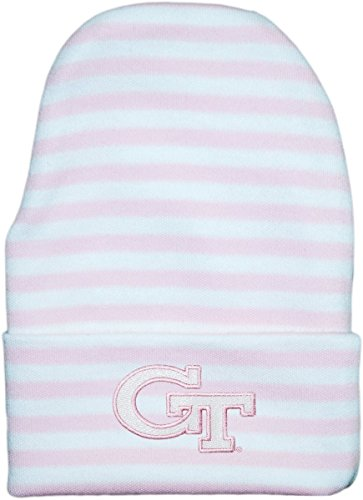 Creative Knitwear Georgia Tech Yellow Jackets Striped Newborn Knit Cap (Georgia Tech Knit)