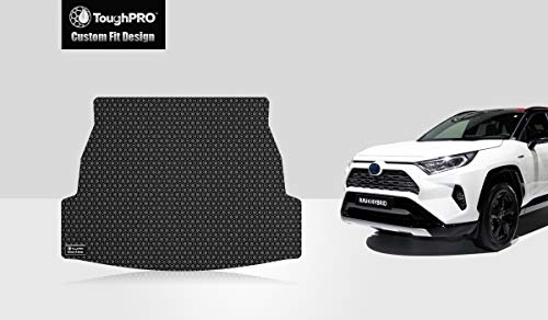 Cargo Toyota Mat (ToughPRO Cargo Mat Compatible with Toyota RAV4 - All Weather - Heavy Duty - Black Rubber - 2019)