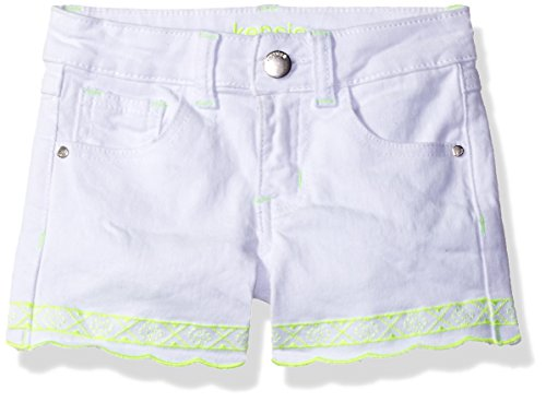 kensie Girls' Big Casual Short (More Styles Available), 2942 White 12 from kensie