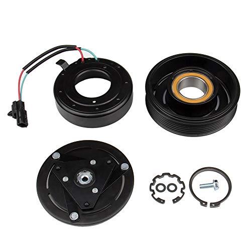 AC Compressor Clutch Kit for Nissan Sentra 2007-2012 2.0L Compatible Part Number 92600ZE80B 92600ZE81B 92600ET80A by Big Autoparts