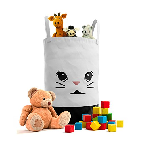 Fawn Hill Co Bunny Laundry Hamper for Nursery or Kids Room - Children and Pet Cat Dog Storage Container for Toys, baby products and Clothing by FAWN HILL CO.