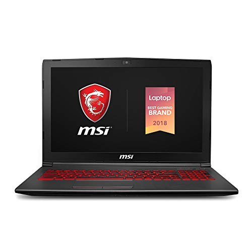 "MSI GV62 8RD-276 15.6"" Performance Gaming Laptop NVIDIA GTX 1050Ti 4G, Intel Core i7-8750H (6 cores), 16GB, 128GB NVMe SSD + 1TB HDD, Red Backlit KB, Win 10 Home, Aluminum Black"