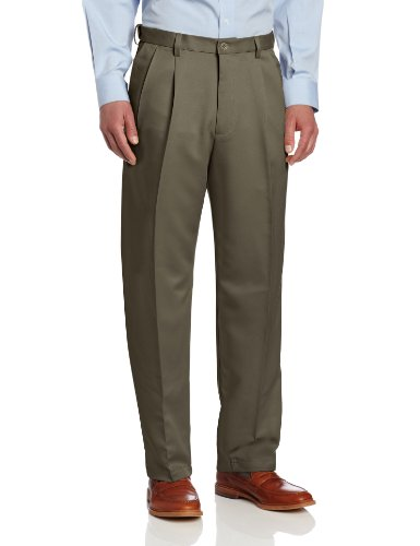 Haggar Men's Cool 18 Heather Solid Pant - Regular - 44W x 30L - Taupe