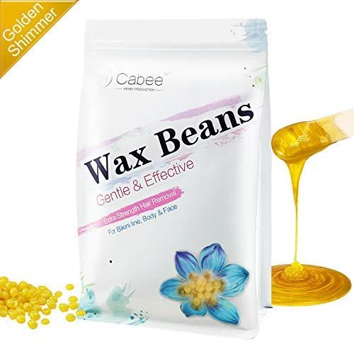 Hard Wax Beans for Waxing - Painless Wax Beads Depilatory for Wax Warmer Kit - Stripless Brazilian Bikini for Women and Men (1lb, Gold,Honey)