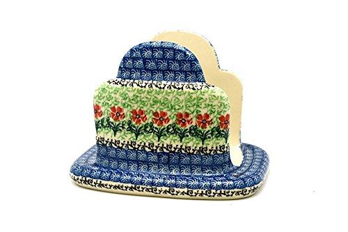 Polish Pottery Napkin Holder - Maraschino