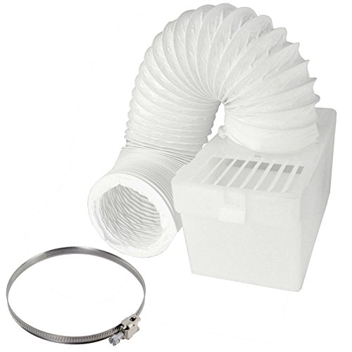 Spares2go Condenser Vent Box & Hose Kit With Jubilee Clip For Aeg Baumatic Vented Tumble Dryer (4