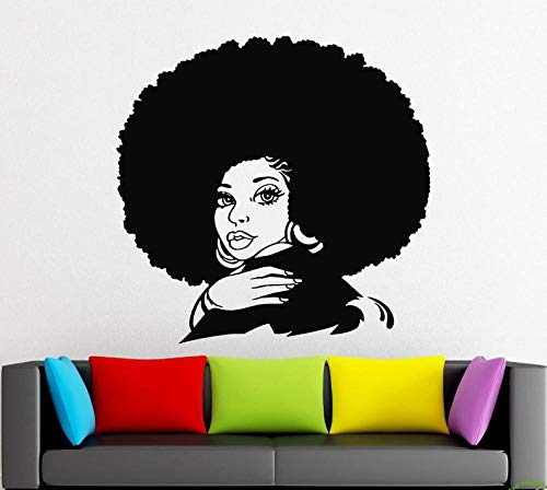 BYRON HOYLE African Style Wall Decal Window Sticker Beauty Salon Woman Face Africa Afro American - American Sticker Beauty