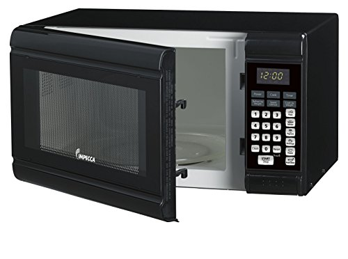 Impecca CM0991K Countertop Microwave Oven 900W Power, Black, 0.9 cu. ft.
