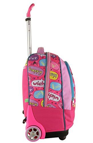 787279c104 Big Trolley SJ FACE GIRL - Rosa - 33 Lt - 2in1 Zaino con spallacci a  scomparsa - Scuola & Viaggio: Amazon.it: Valigeria