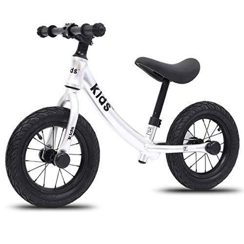12 Inch Kids Balance Bike with Footrest for 1-5 Years Girls & Boys, Push Bike for Toddler with EVA Polymer Foam Tire,White
