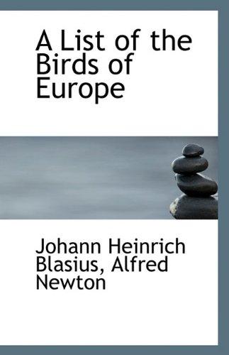 A List of the Birds of Europe PDF ePub ebook