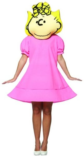 Peanuts Comics Charlie Brown Sally Pink Dress Costume Adult (Sally Charlie Brown Costumes)